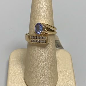 Jewelry - 14K Yellow Gold Tanzanite and Diamond Ring